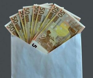 Un sobre con dinero